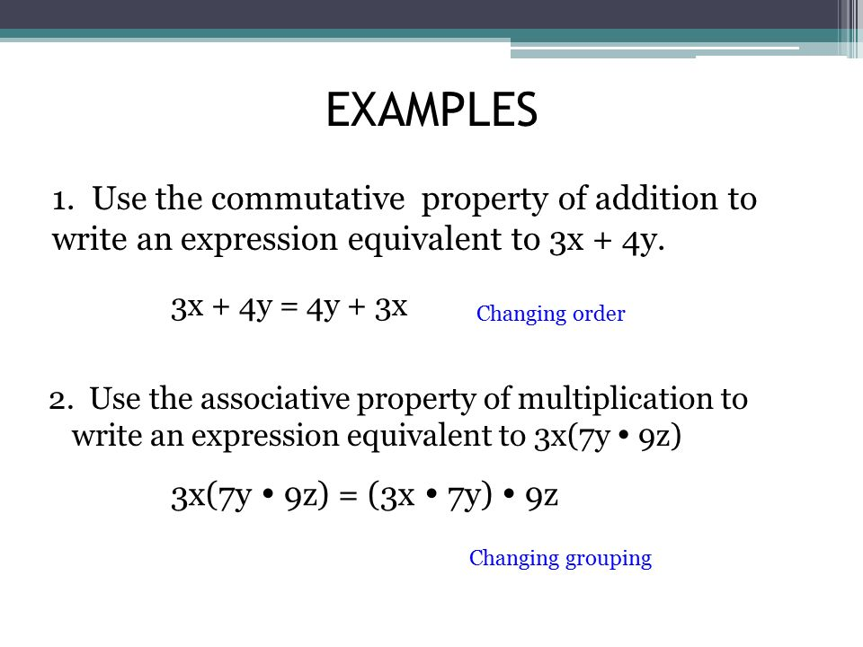 Commutative Property Exle 28 Images Just The Facts Order Of