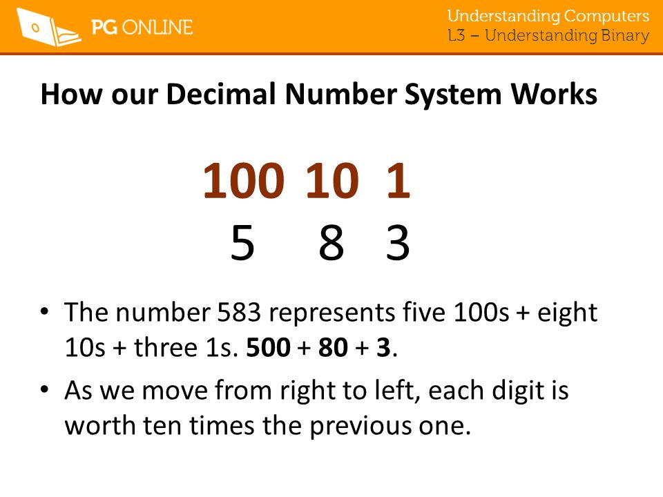 How our Decimal Number System Works