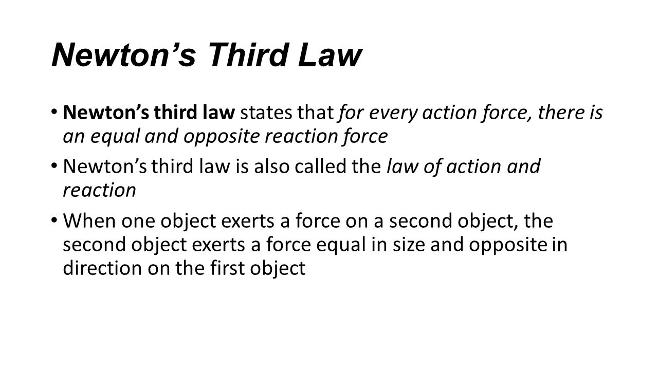 newton s second law 1 Newton's second law of motion states that when an unbalanced force acts on an object: the direction of the object's acceleration is the same as the direction of the unbalanced force.
