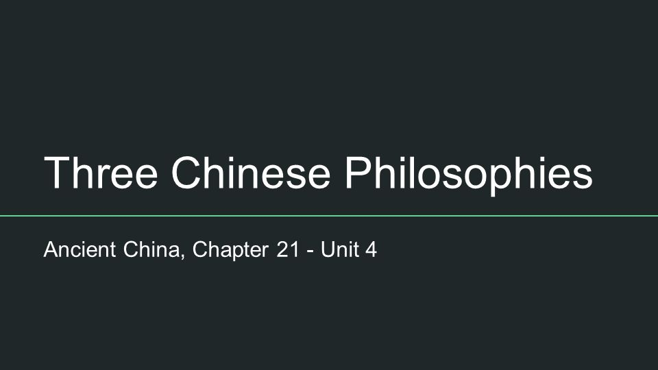 chinas three philosophies For much of chinese history, the major religions were confucianism and taoism  then, sometime around the 1st.