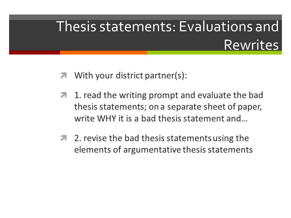 thesis statements elementary education Help with thesis statements including free printables, games, and a slideshow for how to write a thesis statement.