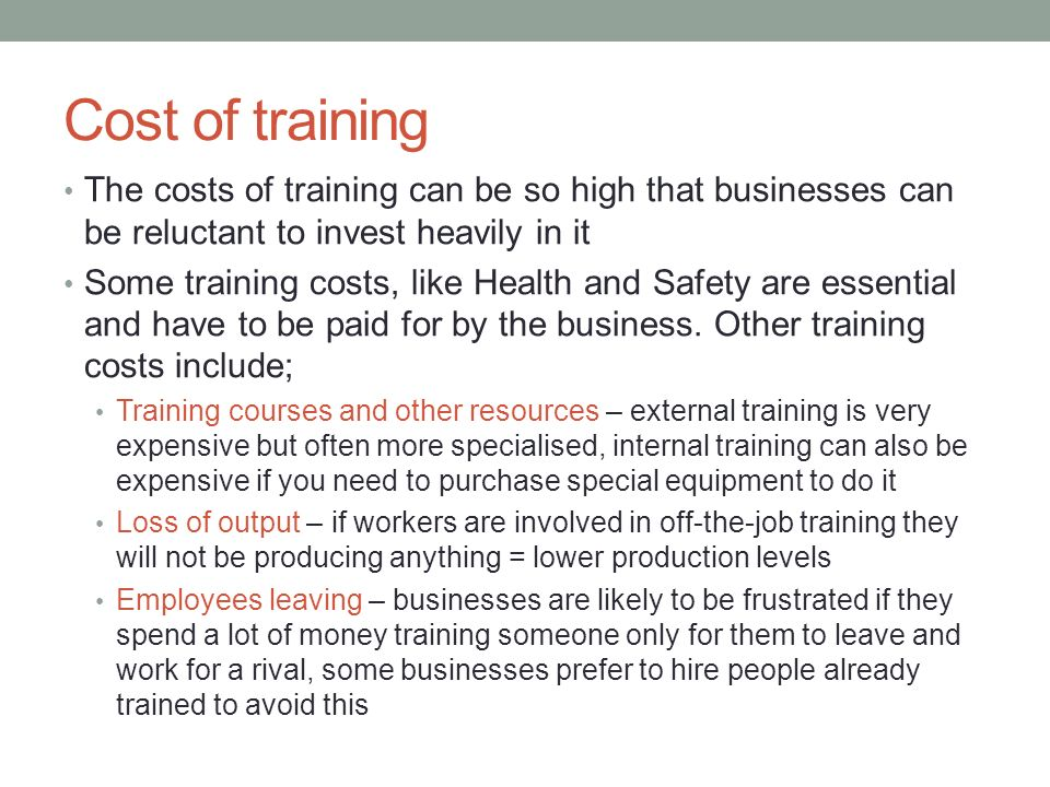 why employers reluctant to invest in training Why companies don't train employees anymore expect much handholding on the part of the employer that you can invest in training an employee that.