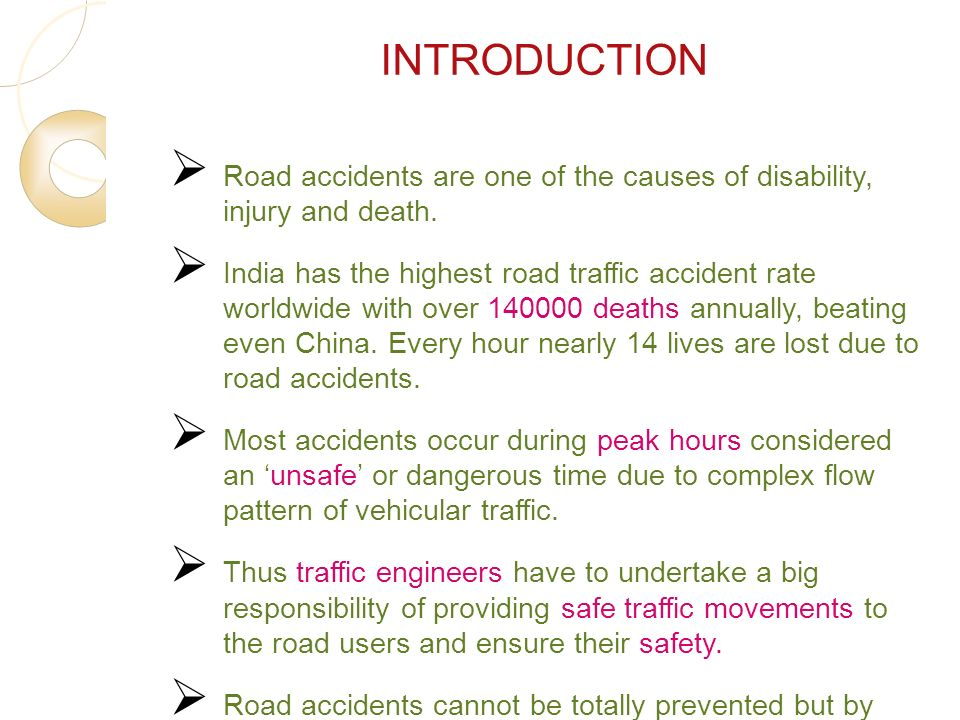 introduction to road accident Original article road traffic accident: the neglected health problem in amhara national regional state, ethiopia fesseha hailu mekonnen 1, sileshi teshager1 abstract.