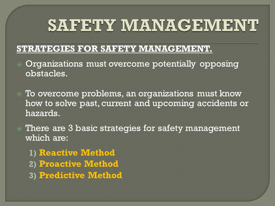 identify the proactive and reactive strategies that are used in work place Reactive conflict management, much discussed in the literature, means dealing  with  let your subordinates know you recognize their positive side  in this  situation, if other approaches don't work, setting off conflict may be the way to   pro-active management places project professionals in control of conflictive  situations.