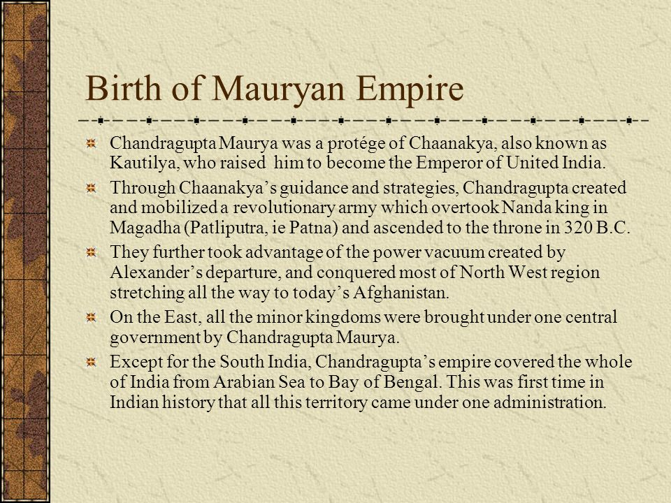 Mauryan Empire: Administration, Economic Condition and Art