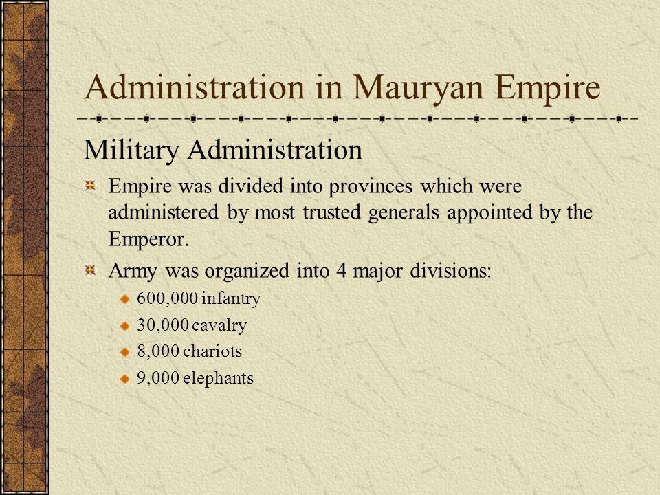 military system of mauryan