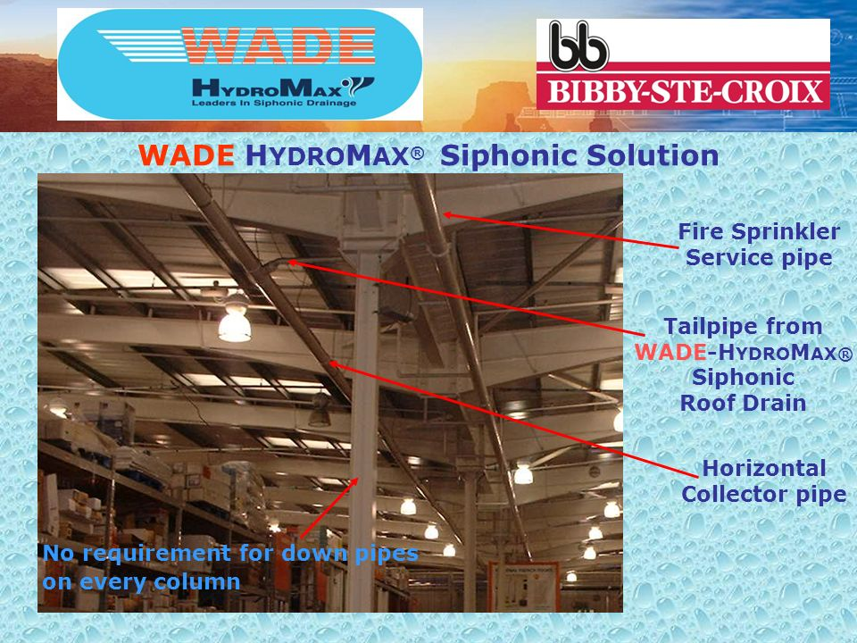 WADE HYDROMAX® Siphonic Solution