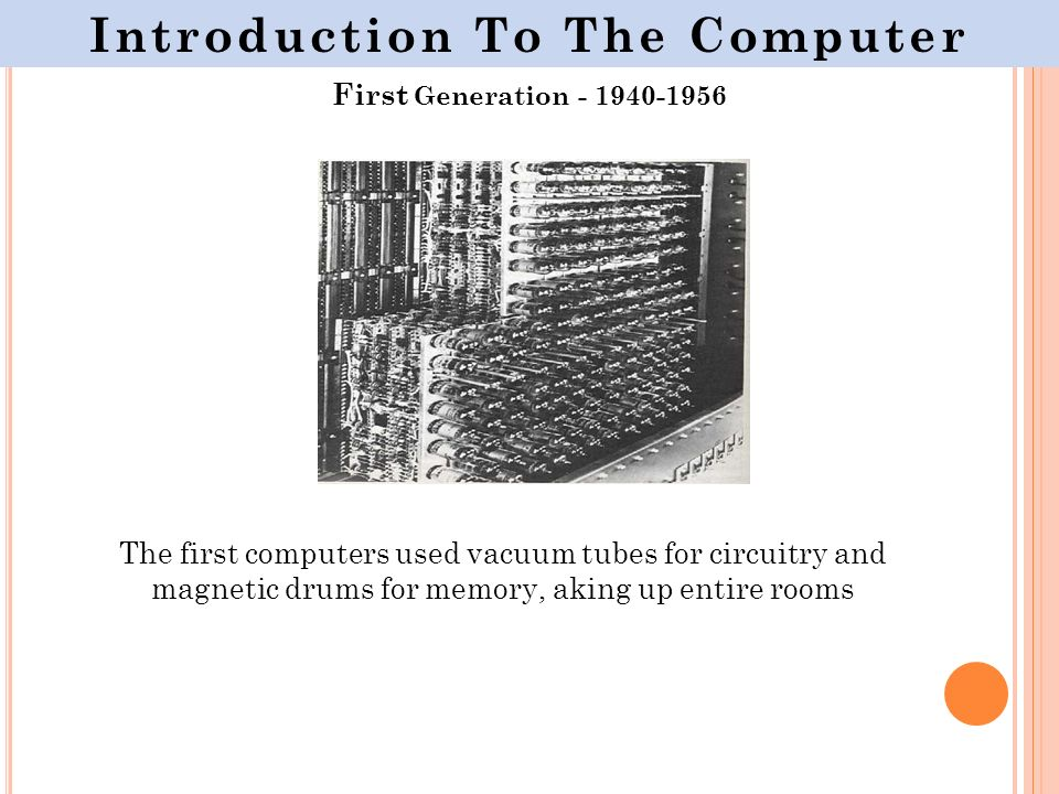 an introduction to the evolution of computer History, the history of computers, and the history of computers in education   universities help in computer development effort technology used in war effort.