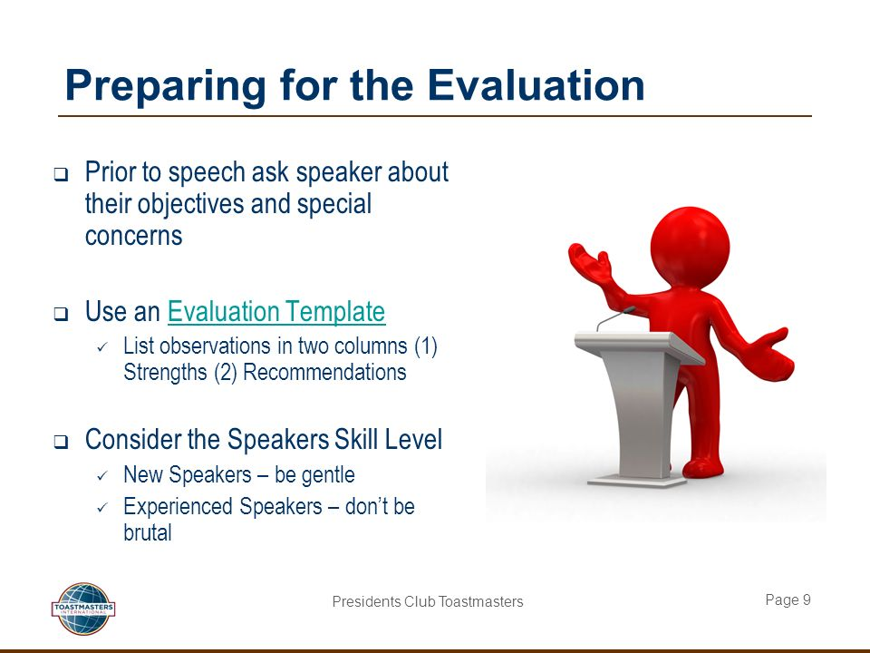 toastmasters evaluation template - Akba.greenw.co