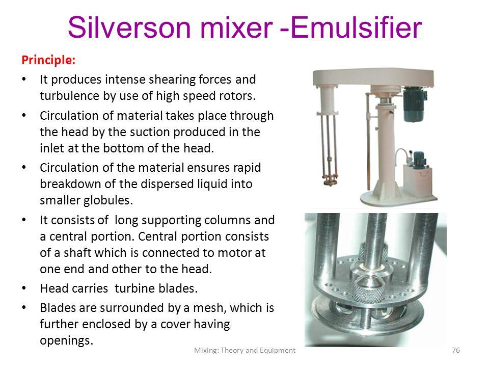 Silverson mixer
