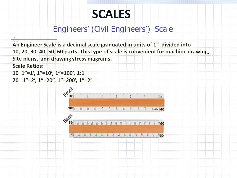 Engineering drawing scales ppt