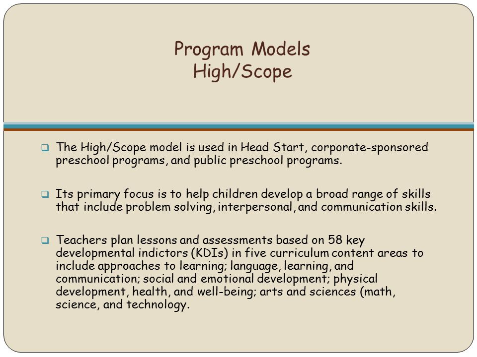 Implementing Early Childhood Programs