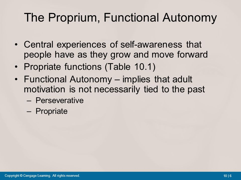 allports motivation functional autonomy and study Gordon allport psychology of individual 1 the  allport was certain that motivation is always a contemporary process  he referred to this as functional autonomy.