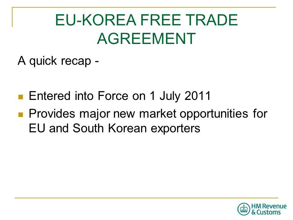 Eu Korea Free Trade Agreement Customs Requirements Ppt Video