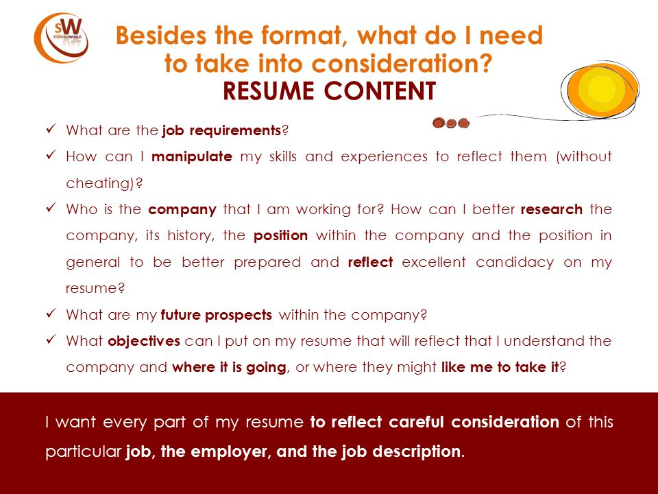 100 what do i need in my resume get some guidelines for