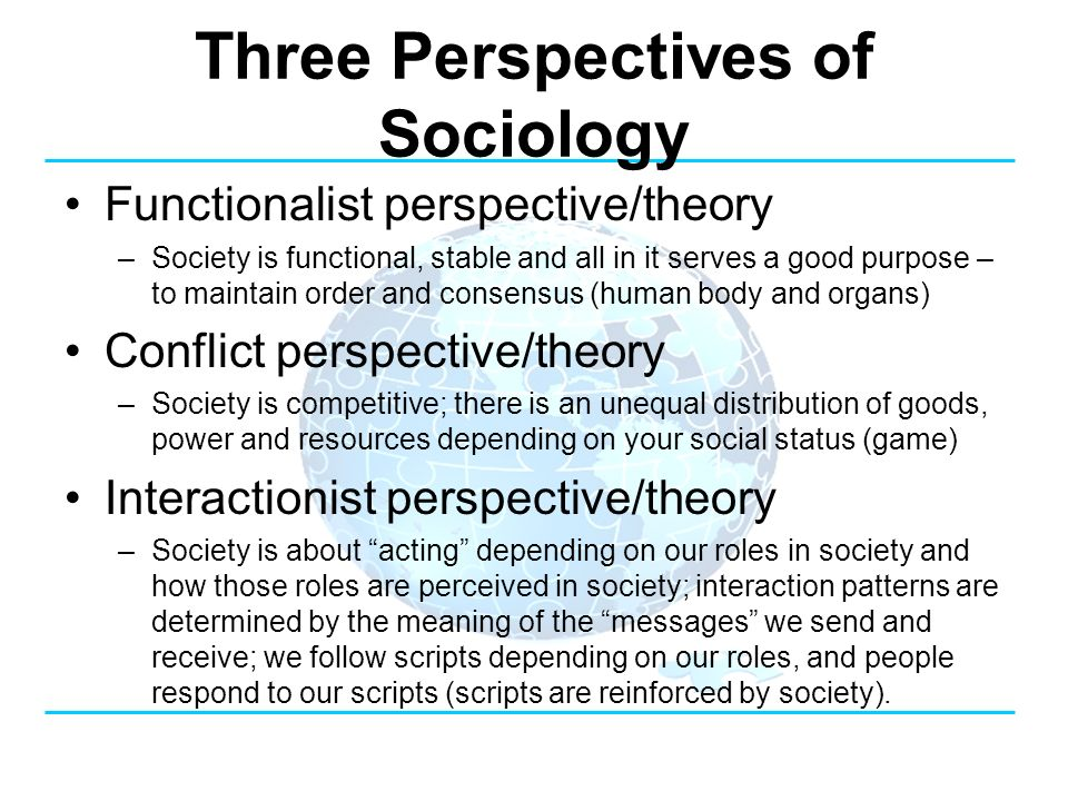 Conflict Theory and Functionalism
