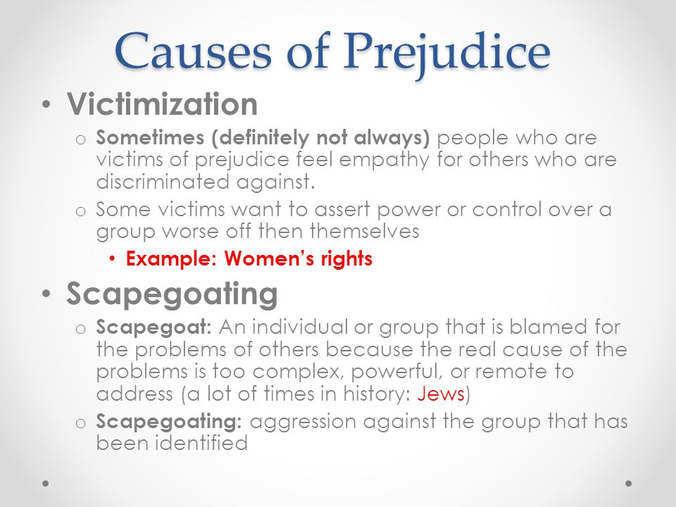the causes of prejudice Below you will be able to find all causes prejudice crossword clue answerscrosswordgurucom is the biggest database with all crossword clues solutions.