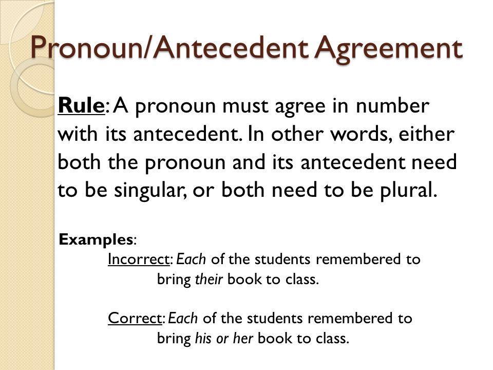 pronoun antecedent agreement Madratco – Antecedent Worksheets