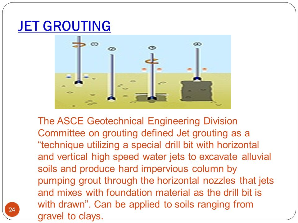 Ground improvement technique by grouting ppt video for Soil grouting