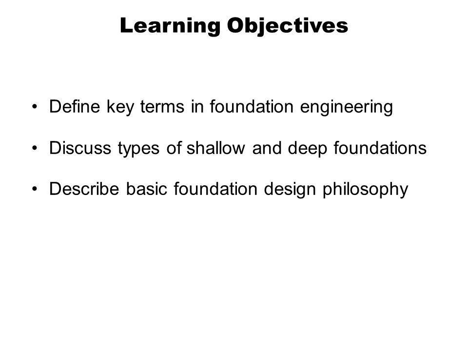 The objectives of deep learning