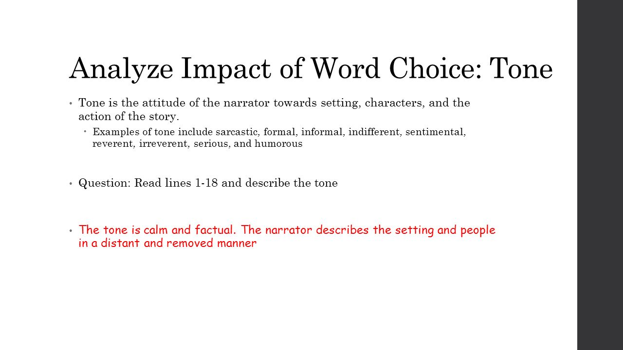 essays word choice