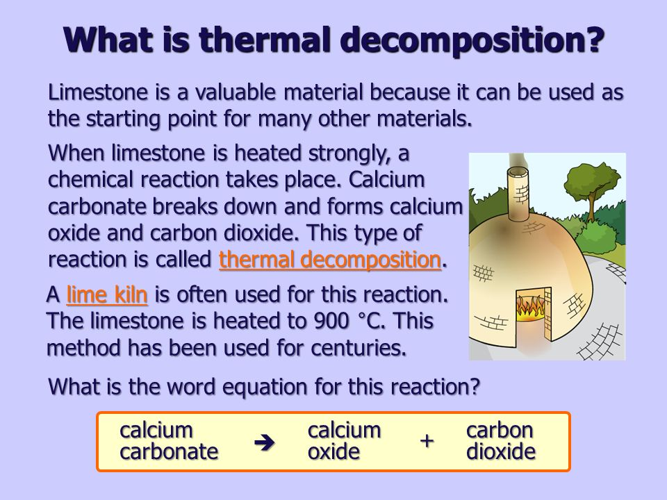 thermal decomposition A video on youtube shows the thermal decomposition of mercury thiocyanate a strange thing i've observed is that $\ce{hg(scn)2}$, which is the reactant, is a white powder and the product is.