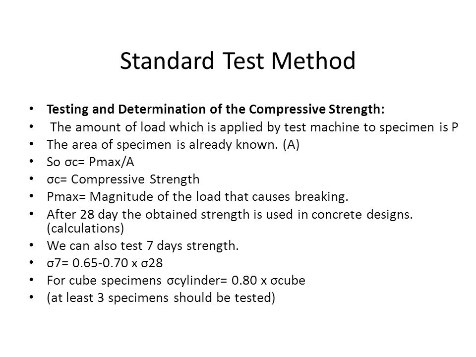 Destructive Test Methods Of Hardened Concrete Ppt Video