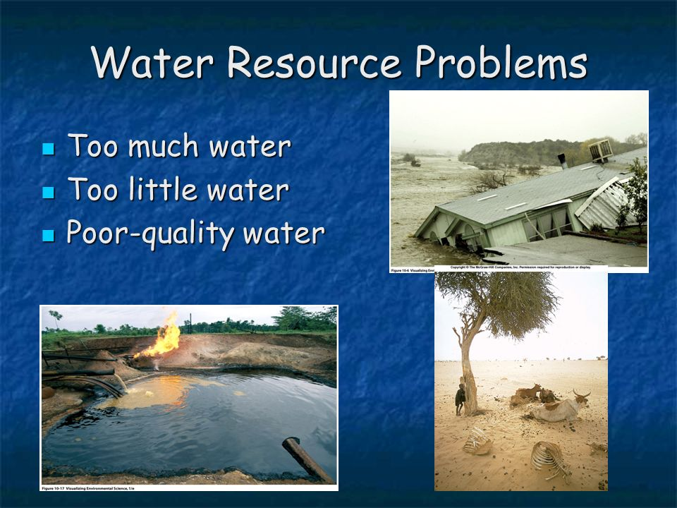 the water resource problem The natural resources defense council works to the water and the nrdc experts use data and science to unearth the root causes of the problems that.