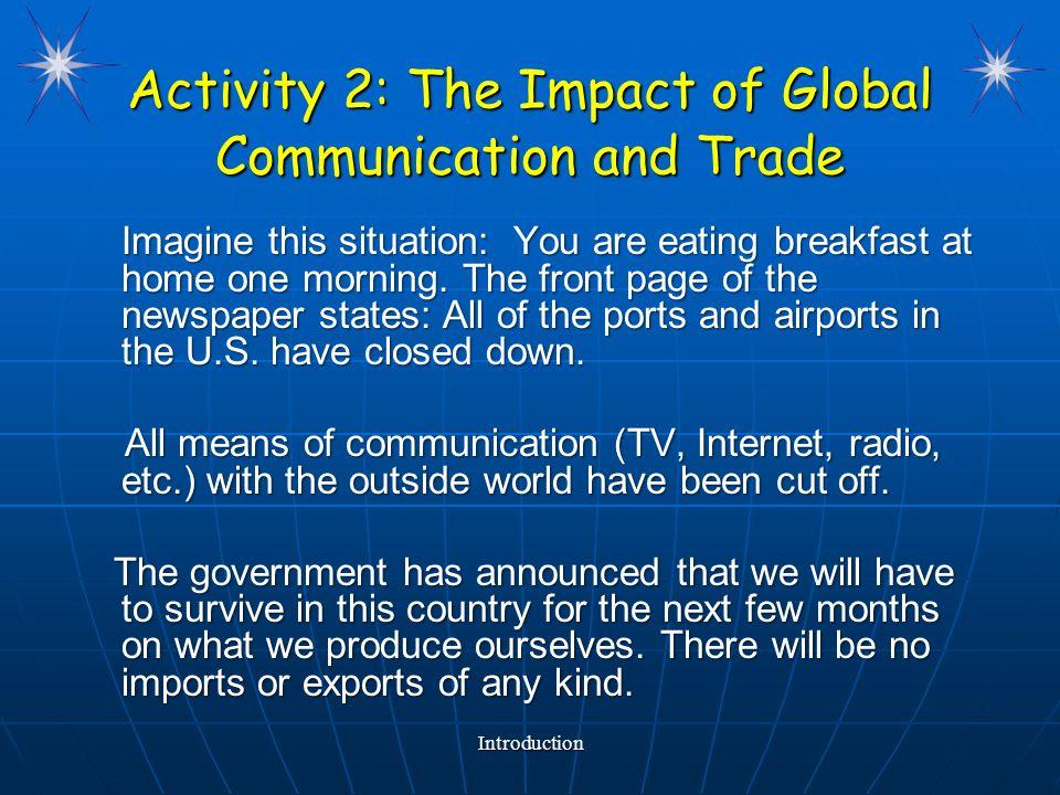 Global trade system communication error