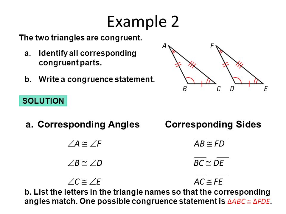 How to write a congruence statement for polygons names