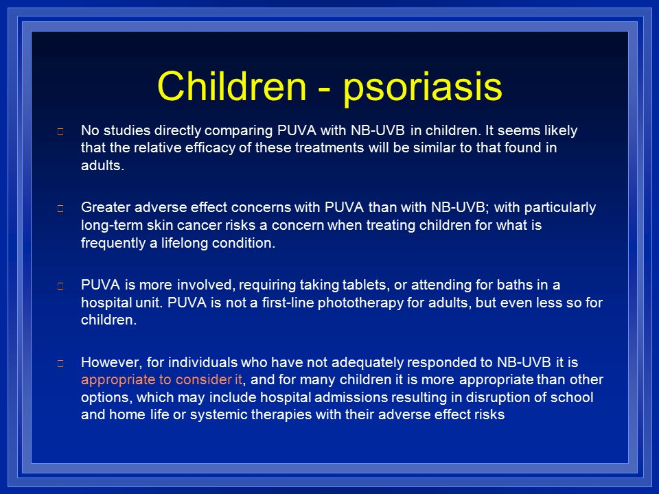 "psoralen and uva therapy in individuals This acronym ""puva"" refers to the combination therapy of psoralen plus uva topical psoralen in conjunction with artificial uva irradiation has individuals."