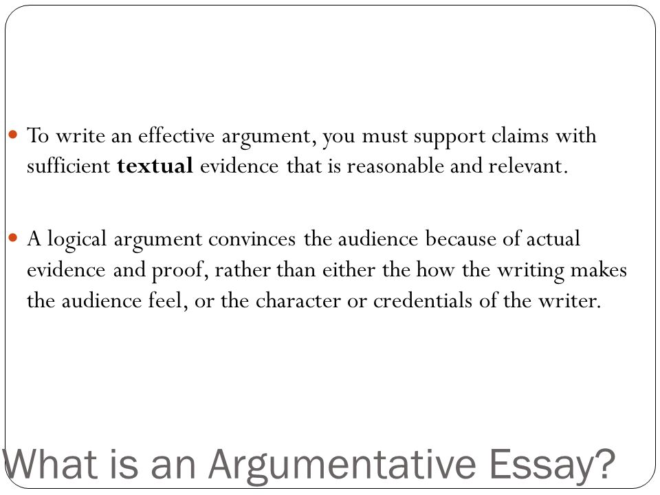 my reflection on my writing argumentative