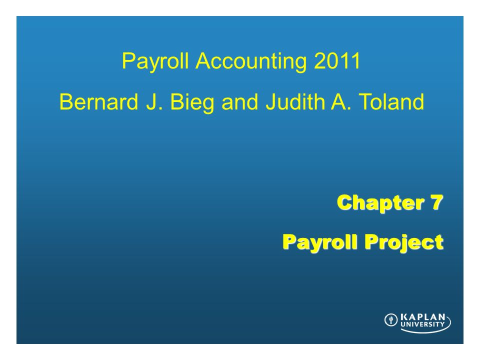 Payroll Project Chapter 7 Answers 2012 Bieg Toland Research