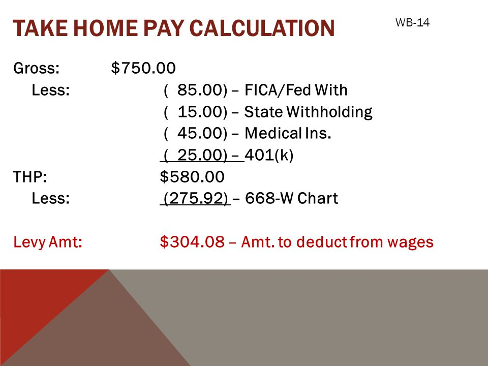 how to calculate take home pay