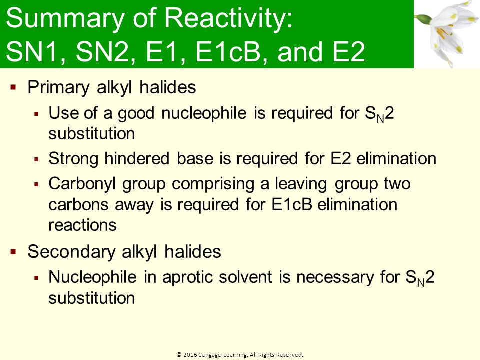 lab report e2 substitution alkyl halides Why do elimination reactions compete with substitution reactions when alkyl halides react with a nucleophile dr hayek answered  e1 and e2 reactions 7.