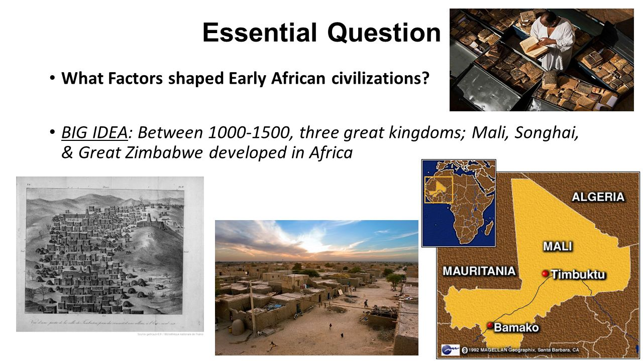 examples of early african civilizations