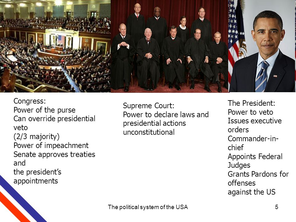 holding the judiciary power in a political system Although the american political system has a strict 'separation of the powers', members of the supreme court (the judiciary) are nominated by one of  system, with the prime minister holding office and power so long as he or.