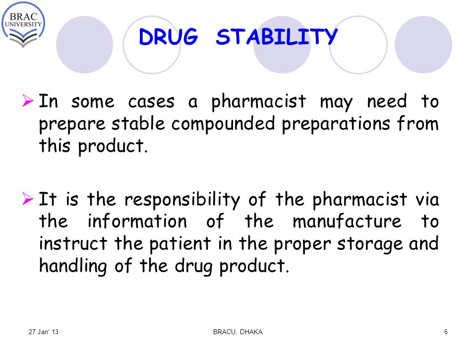 Drug Stability and Stabilization Techniques ppt download – Responsibility of a Pharmacist