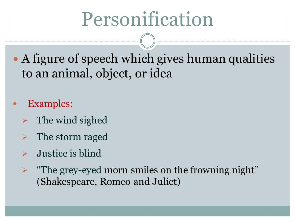 poetry an introduction to figurative language imagery and sound 6 personification