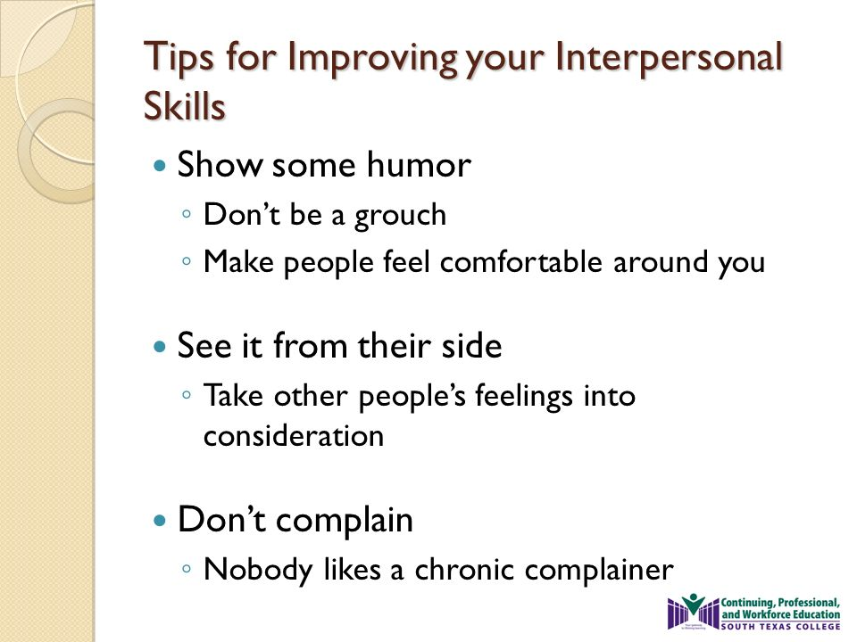 what are some interpersonal skills