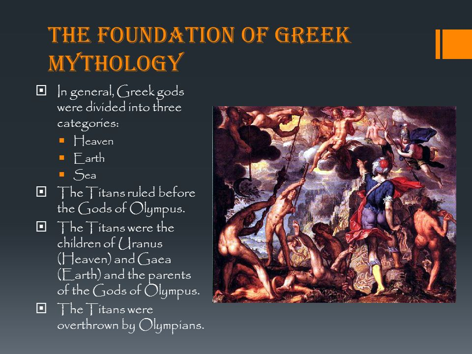 foundation of mythol Mythology play in a society and how the two interact with each other because, to the greeks, mythology and religion were inseparable from the mythos of society.