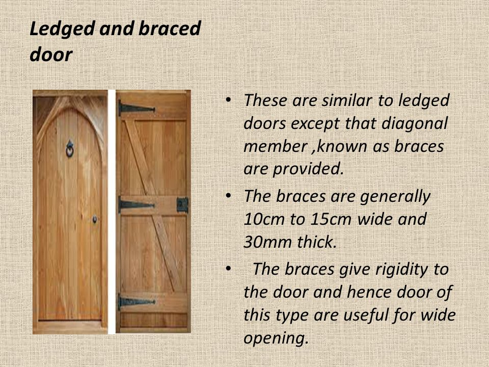 Subject technical terms of doors and types of doors for Types of wood doors are made of