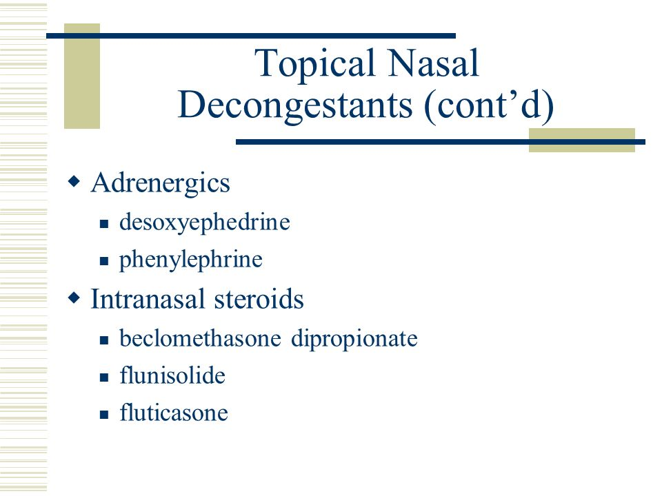 intranasal steroids comparison