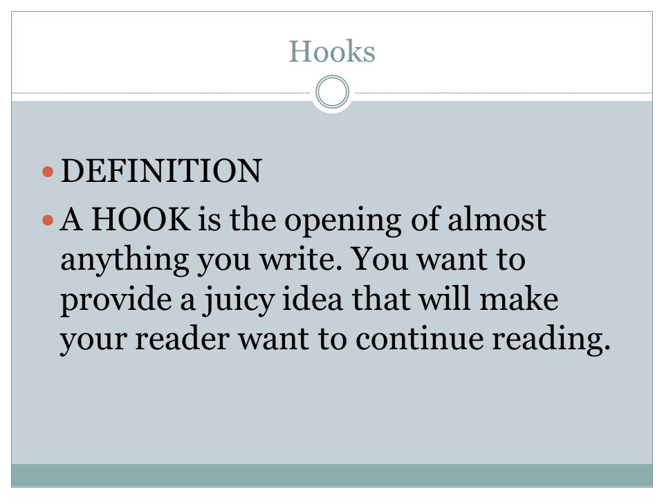 Definition of Hook