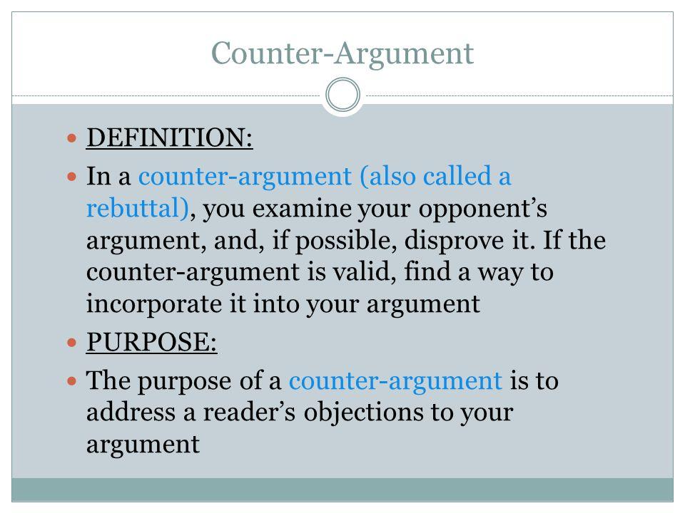 counter argument definition