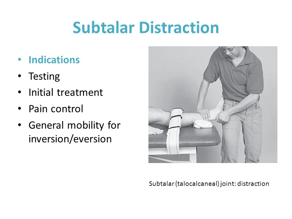 Subtalar Distraction Indications Testing Initial treatment