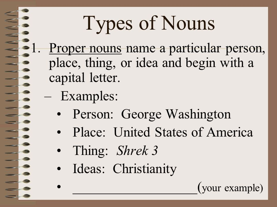 8 Types Of Nouns Unit 1 Conventions Ppt Video Online