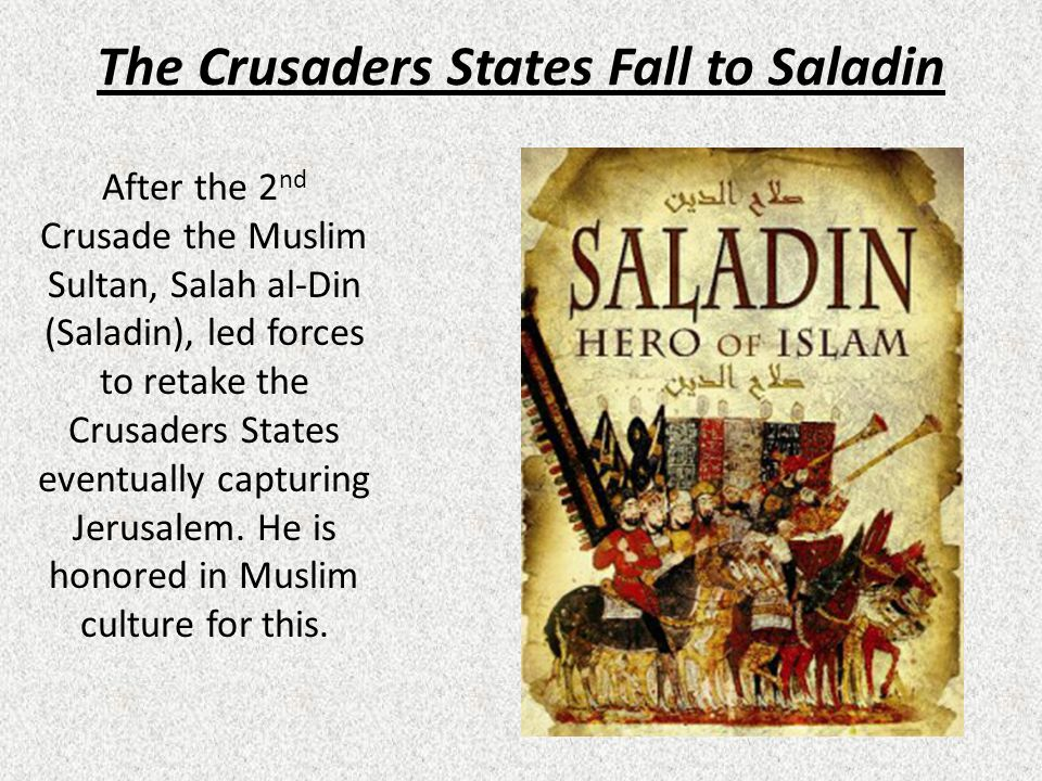 The Crusaders States Fall to Saladin