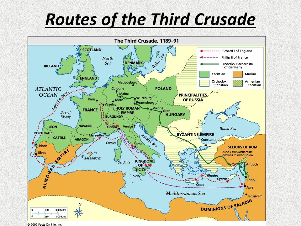 Routes of the Third Crusade