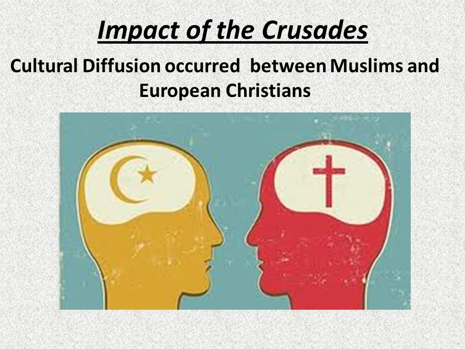 Cultural Diffusion occurred between Muslims and European Christians